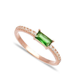 Inel Green Zircon