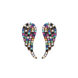 Cercei Wings Ear Cuff silver