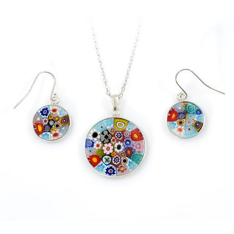 Set argint Murrine D23