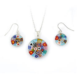 Set argint Murrine D23 - Model 1