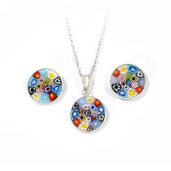 Set argint Murrine D14